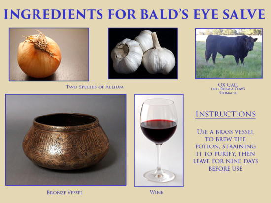Ingredients for Bald's eye salve (1)