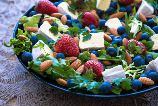 Berry, Brie, & Almond Salad. Source: Amazing Almonds